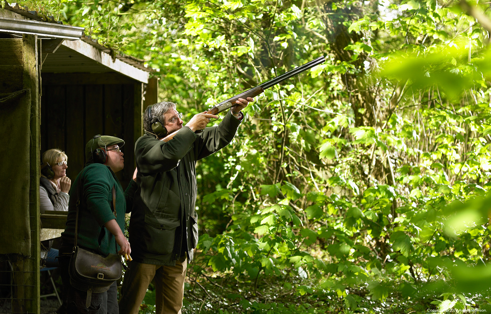 Clay pigeon shooting at Mount Juliet Country Estate in County Kilkenny.