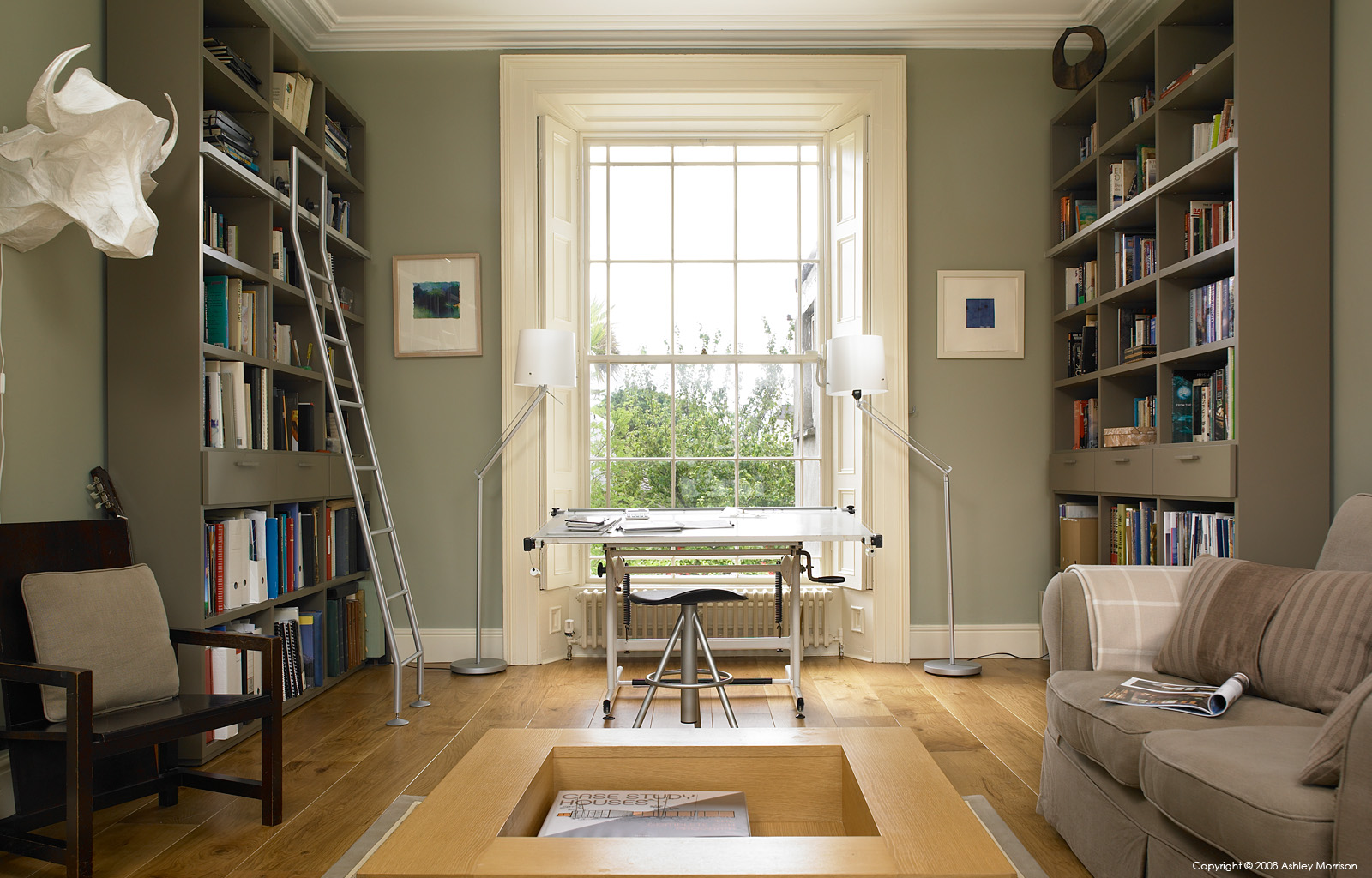 The study in Louise and Mel Reynolds' Dublin home in Sandycove.
