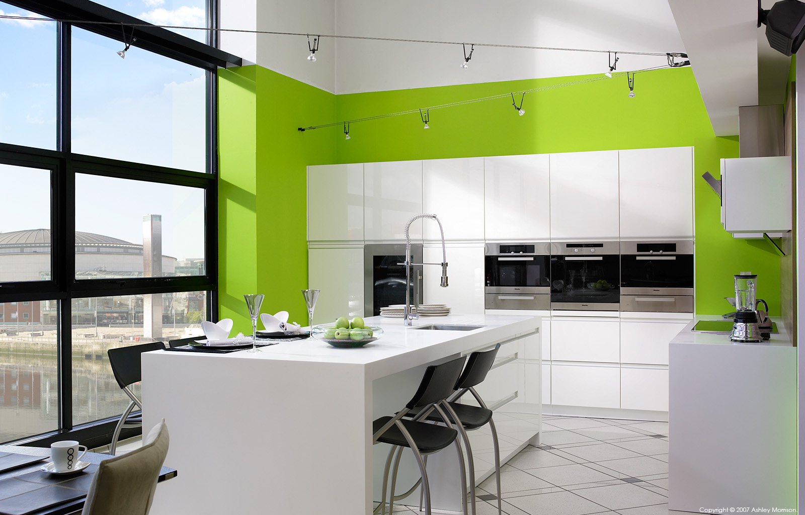 High Gloss White Kitchen Gloss White Kitchen In Robinson Interiors Belfast Showroom